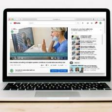 laptop with remote consultations YouTube playlist